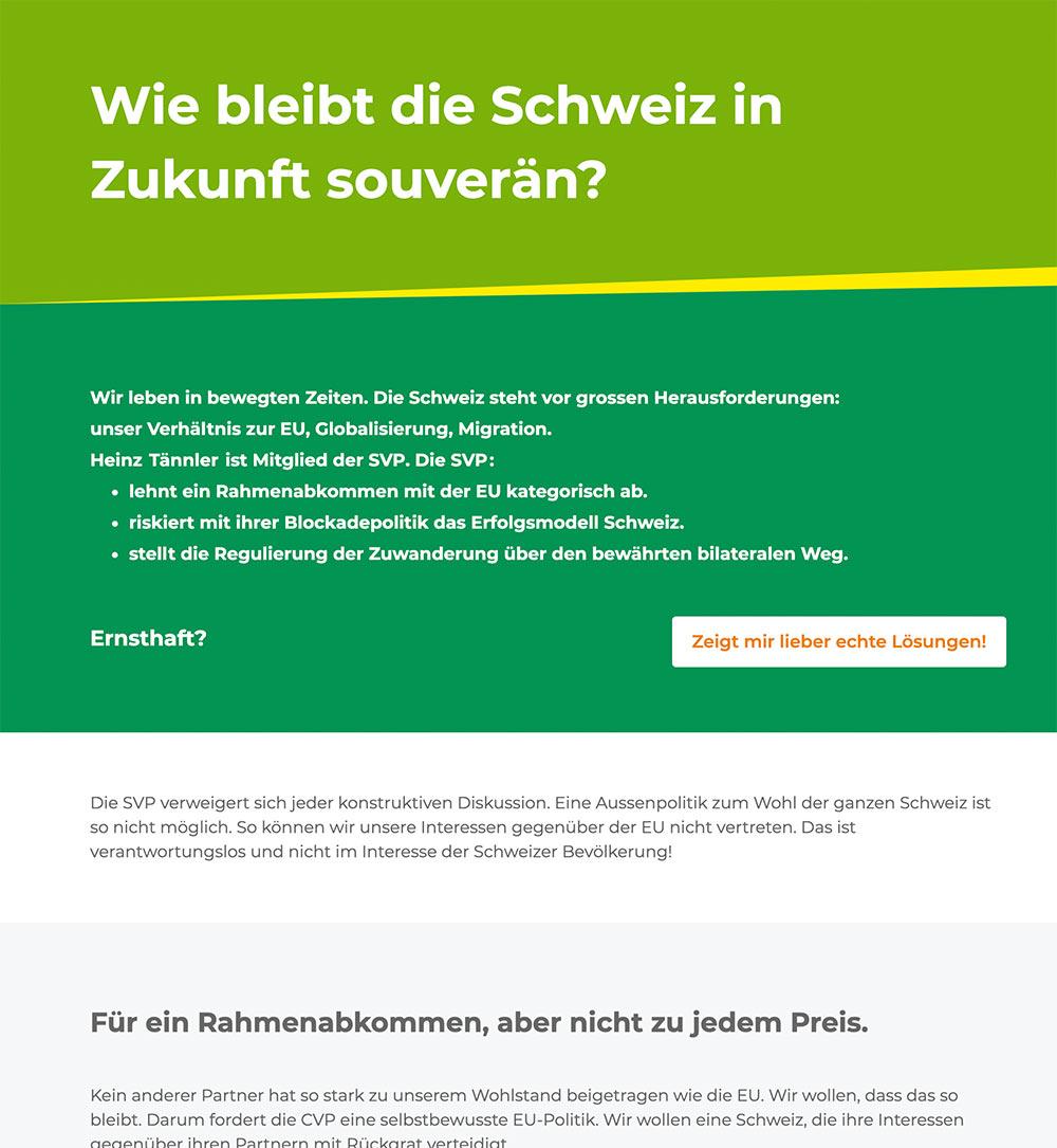 wahlkampf19 cvp negative kampagne 4 - Die CVP macht Negative Campaigning ist das ein guter Einsatz von Social Media? Schweizer Wahlkampf 2019