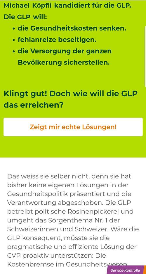 wahlkampf19 cvp negative kampagne 5 - Die CVP macht Negative Campaigning ist das ein guter Einsatz von Social Media? Schweizer Wahlkampf 2019
