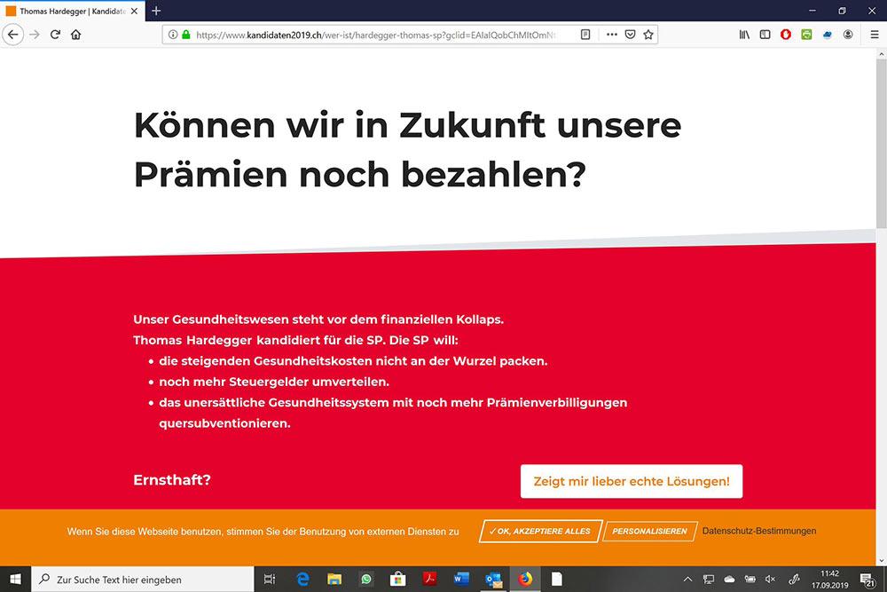 wahlkampf19 cvp negative kampagne 7 - Die CVP macht Negative Campaigning ist das ein guter Einsatz von Social Media? Schweizer Wahlkampf 2019