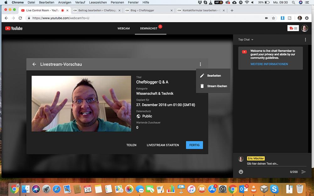 webinar livevideo mit youtube 13 - Ein Webinar mit Youtube machen - wie geht das?