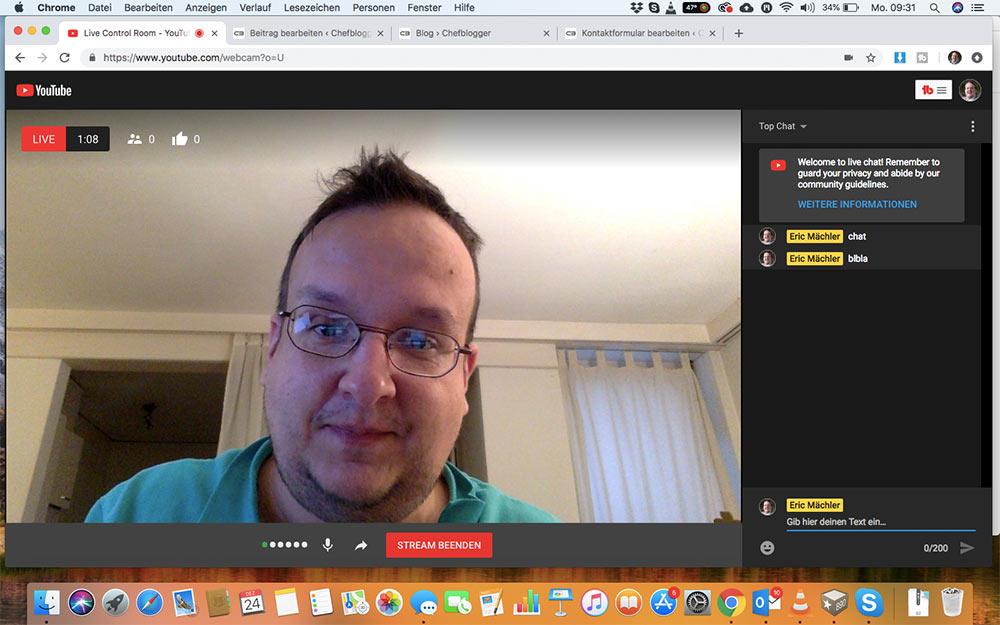 webinar livevideo mit youtube 14 - Ein Webinar mit Youtube machen - wie geht das?