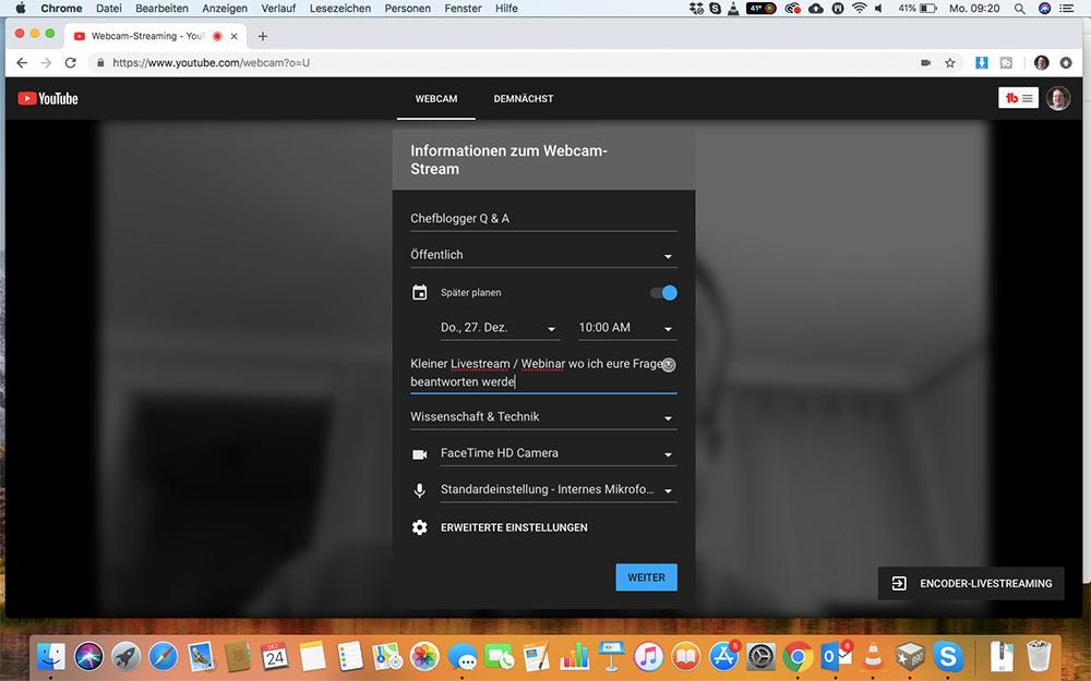 webinar livevideo mit youtube 5 - Ein Webinar mit Youtube machen - wie geht das?