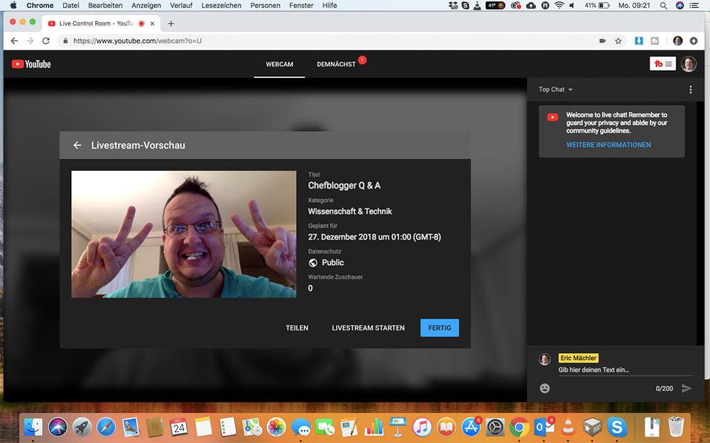 webinar livevideo mit youtube 7 - Ein Webinar mit Youtube machen - wie geht das?