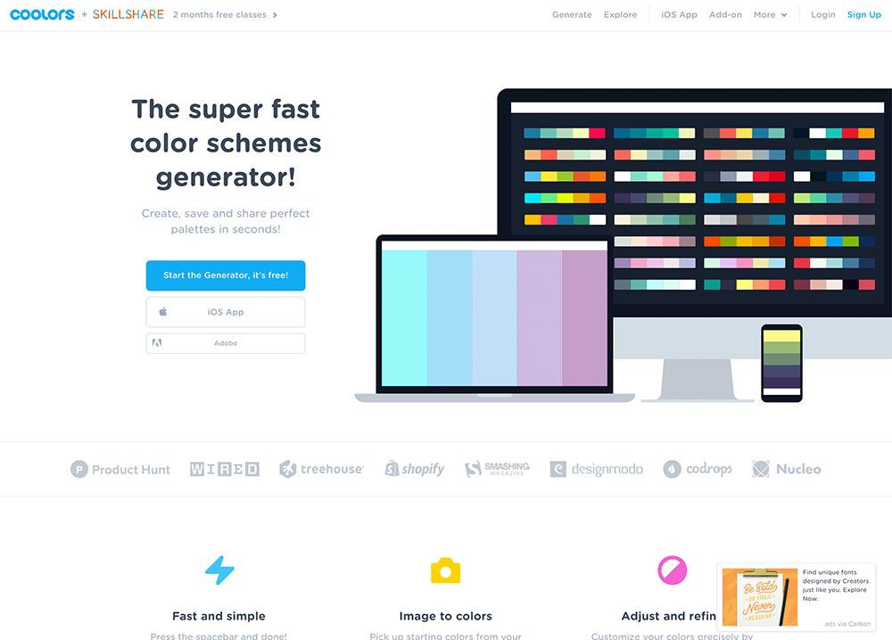 webseite farbgenerator 2018 12 - 12 Tools um die perfekten Farben für eure Webseiten zu finden