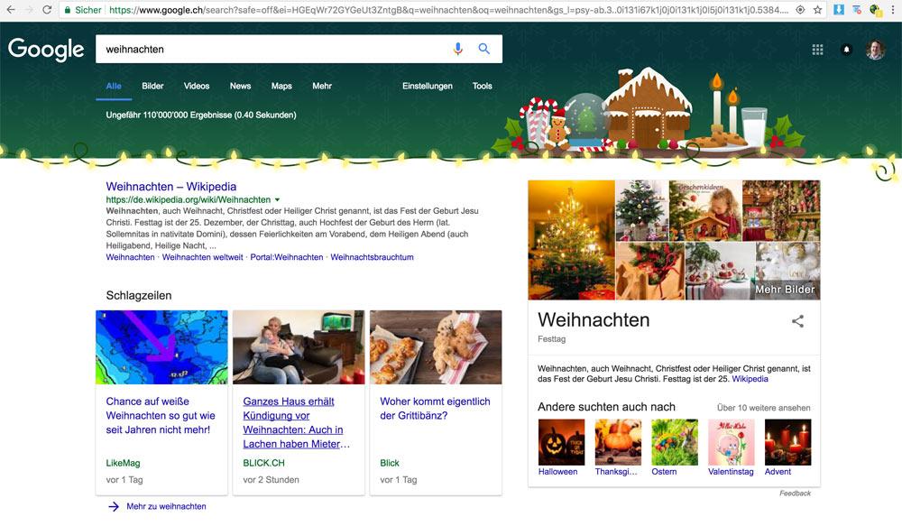 weihnachten google header - Wenn Google Weihnachten feiert