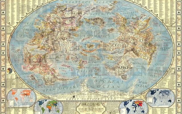 Die Weltkarte des Internet