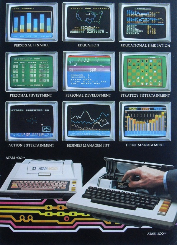 Werbung Atari 800