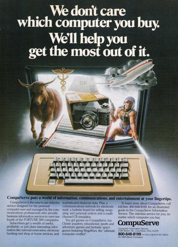 Werbung Compuserv