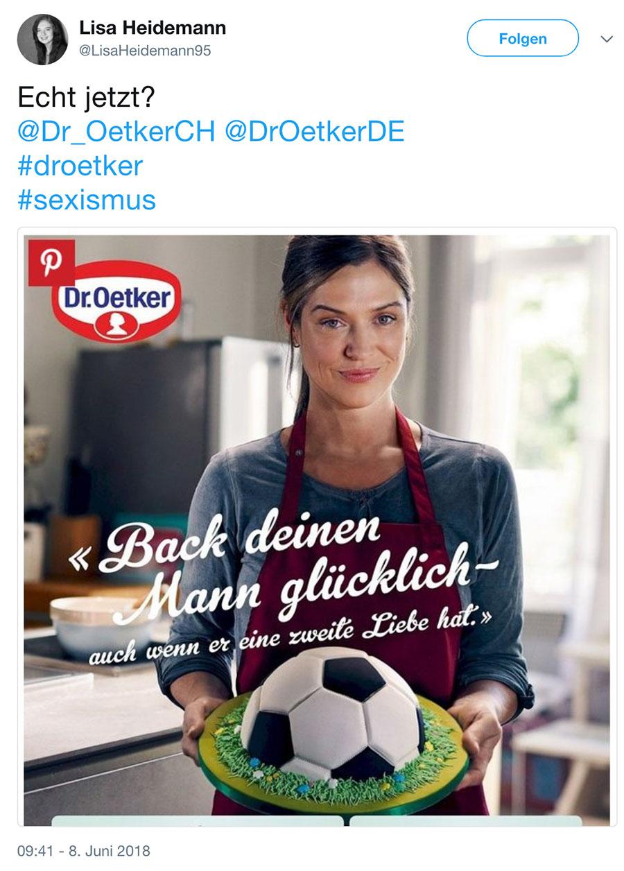 wm2018 fussball dr oetker werbung 2 - WM Werbung von Dr. Oetker erzürnt Social Media