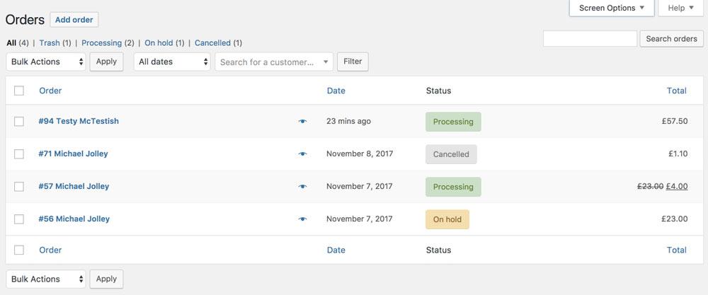 woocommerce 3 3 bestelluebersicht - WooCommerce 3.3 wurde veröffentlicht
