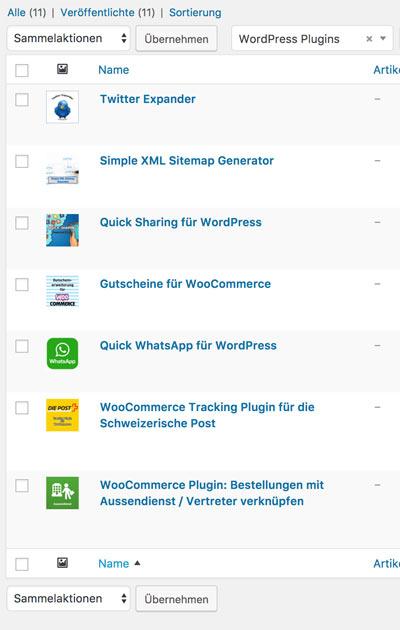 woocommerce produkte sortieren 1 - Anleitung WooCommerce: Wie sortiert man die Produkte von Hand