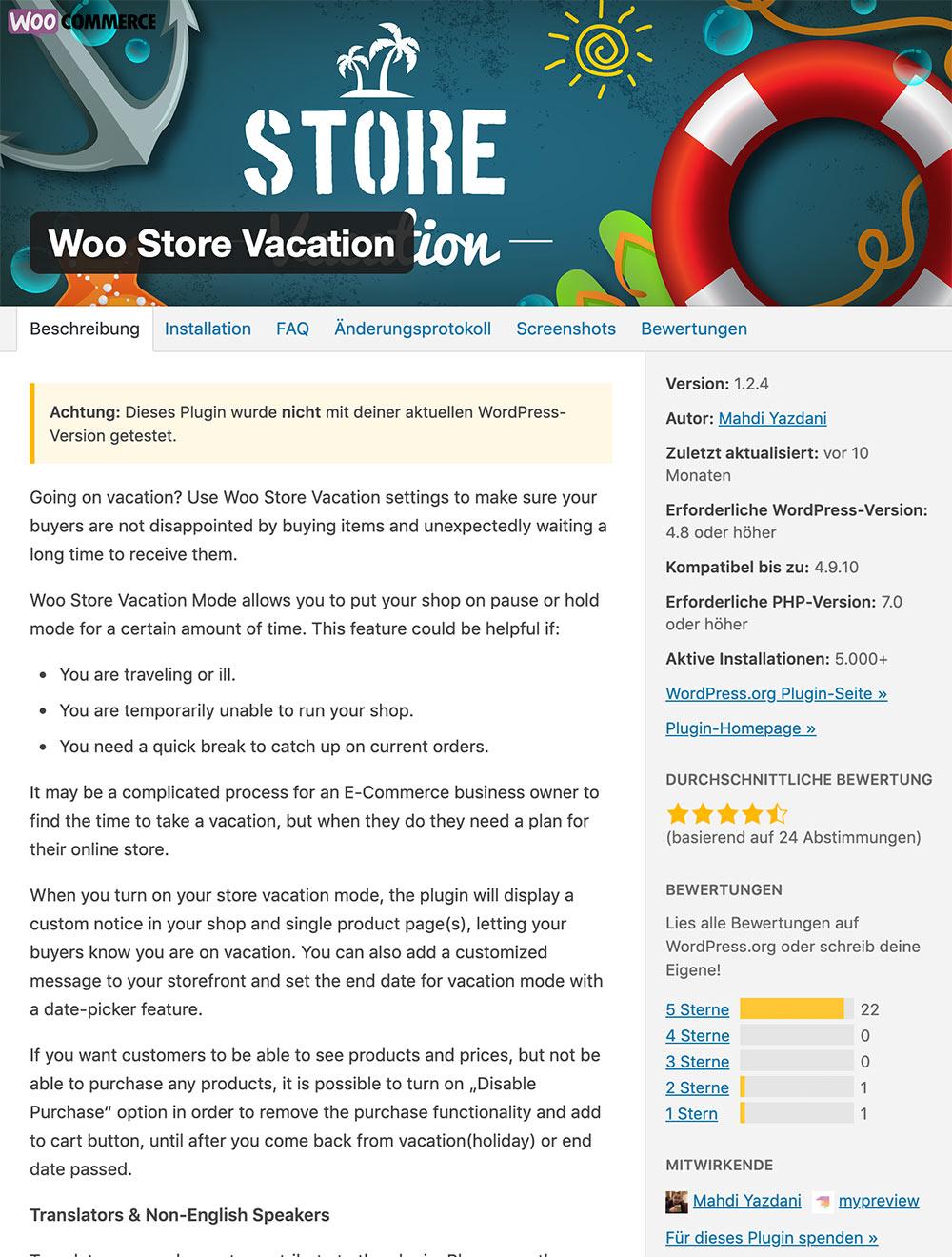woostorevacation 1 - Ferien für den Online Shop? Darf man das überhaupt und wie geht das?