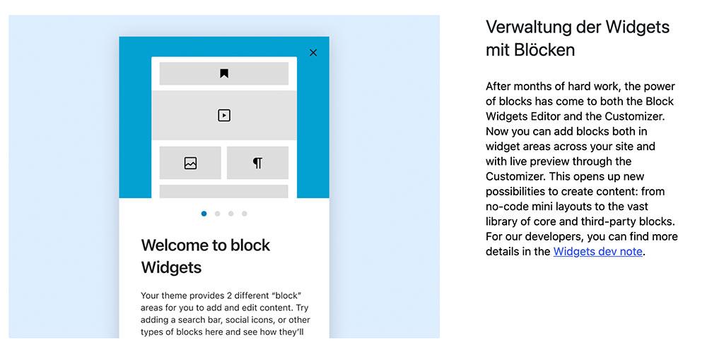 wordpress 5 8 bild 1 - WordPress Version 5.8 ist veröffentlicht worden