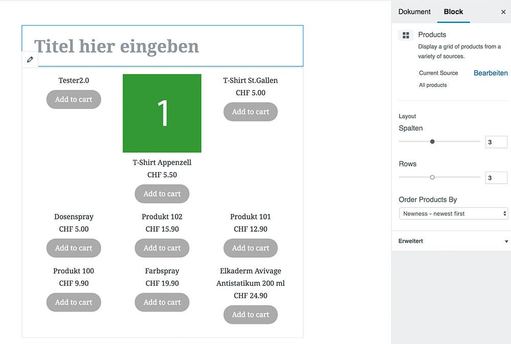 wordpress gutenberg woocommerce alles - Anleitung: Gutenberg und WooCommerce
