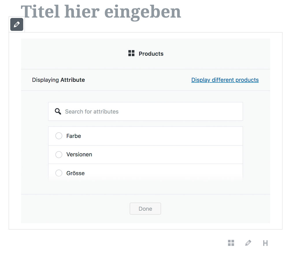 wordpress gutenberg woocommerce filter attribute - Anleitung: Gutenberg und WooCommerce