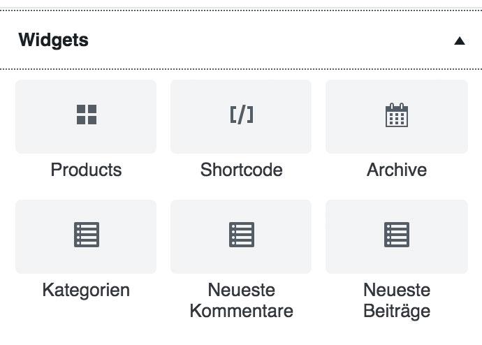 wordpress gutenberg woocommerce widget - Anleitung: Gutenberg und WooCommerce