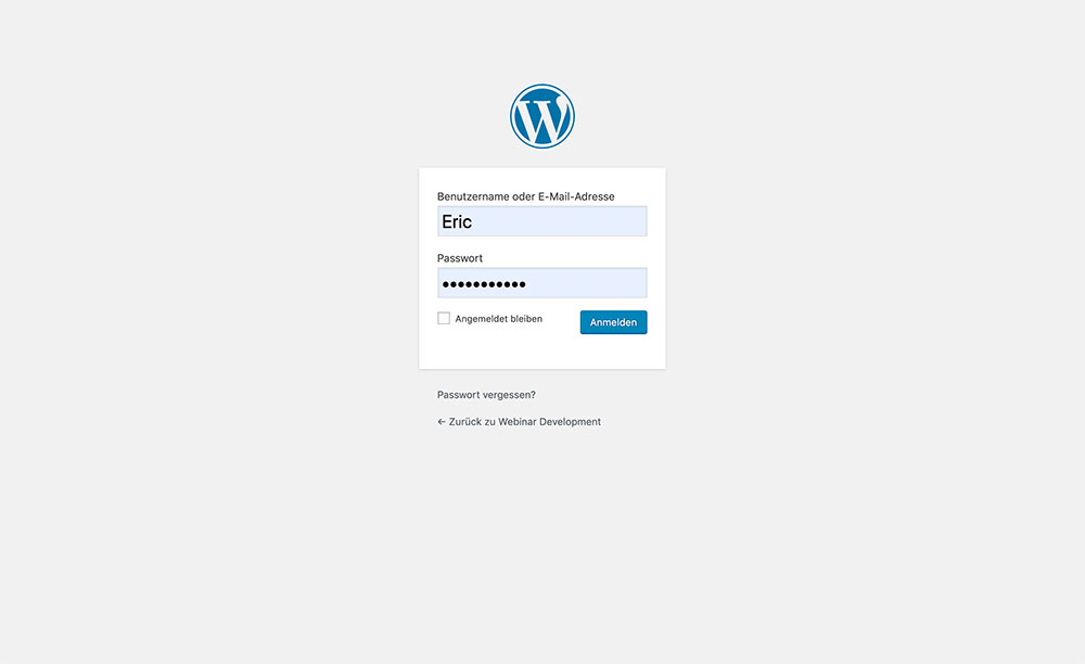 wordpress login page normal - Wie designe ich die Wordpress Login Seite