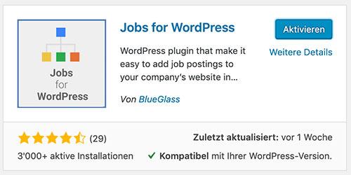 wordpress plugin blueglass jobs for google 2 - Für Google optimierte Stelleninserate veröffentlichen