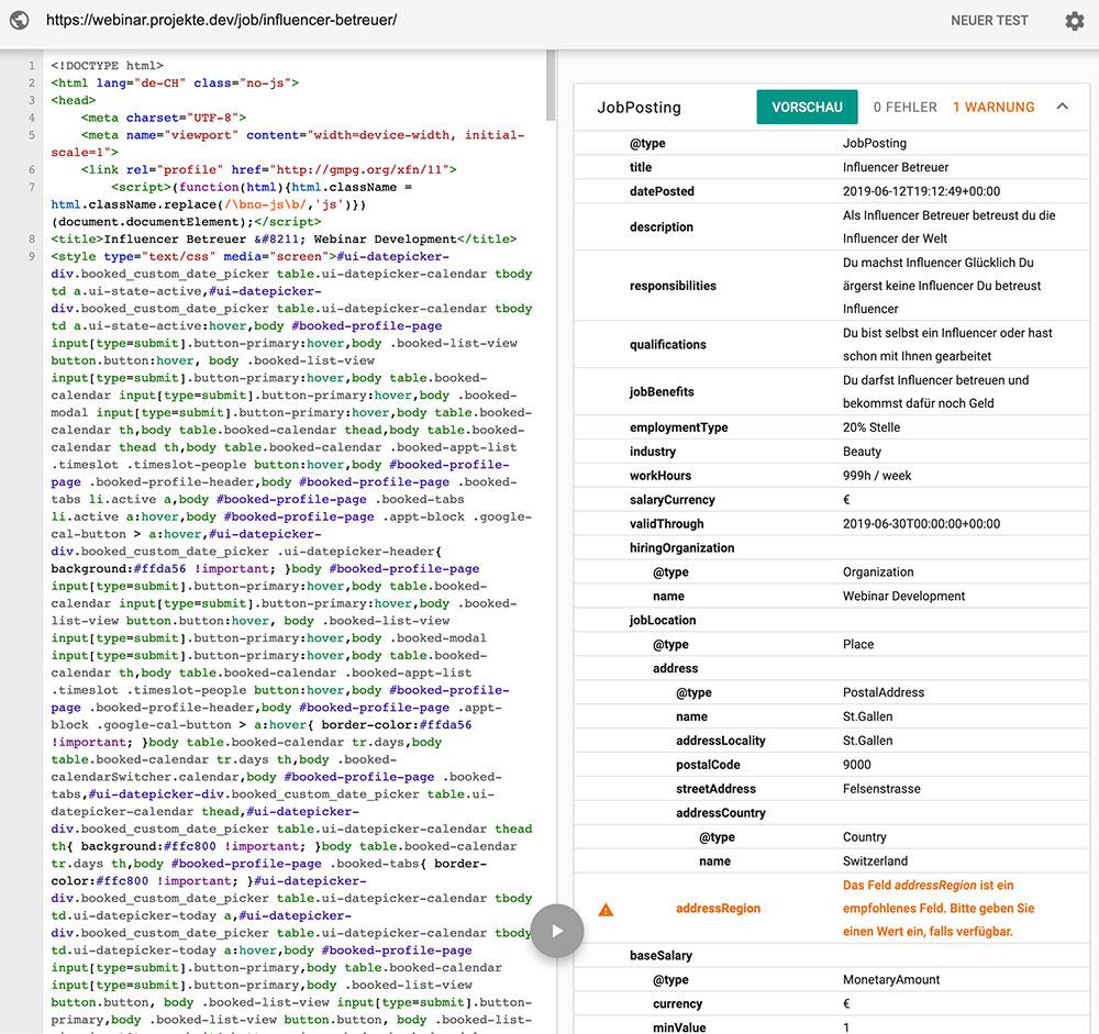 wordpress plugin blueglass jobs for google 7 - Für Google optimierte Stelleninserate veröffentlichen