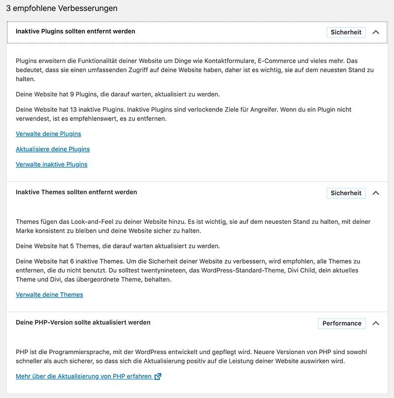 wordpress version 5 2 bild2 - WordPress 5.2 wurde veröffentlicht