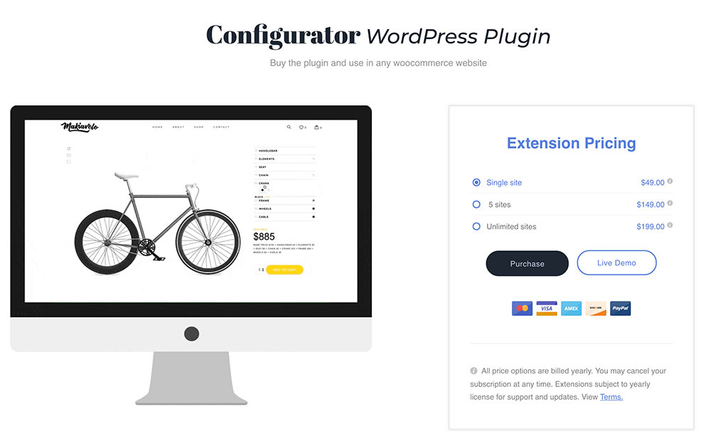 wordpress woocommerce layer produkt configurator - WooCommerce Plugin - Produkt Konfigurator
