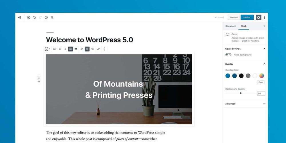 wordpress5 gutenberg 01 - WordPress 5 Bebo inkls Gutenberg wurde soeben veröffentlicht