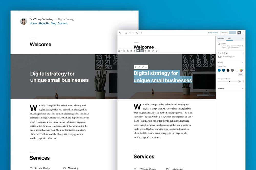 wordpress5 gutenberg 03 - WordPress 5 Bebo inkls Gutenberg wurde soeben veröffentlicht