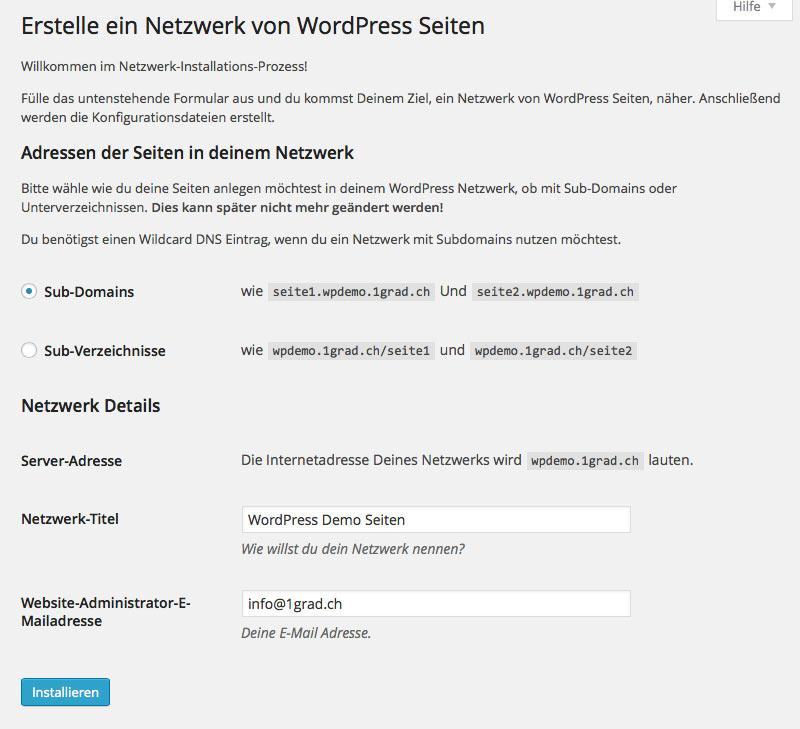 Anleitung: Wie installiert man ein WordPress Multisite System