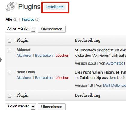 Anleitung wie installiert man ein Plugin bei WordPress
