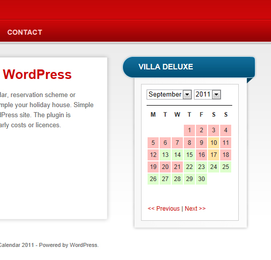 wp simple booking calendar plugin 1 - Einfachstes Buchungsplugin für WordPress mit WP Simple Booking Calendar