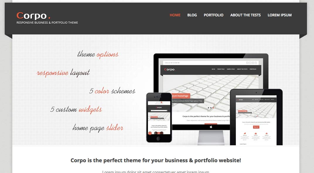 Corpo - Free WordPress Themes – Part 2