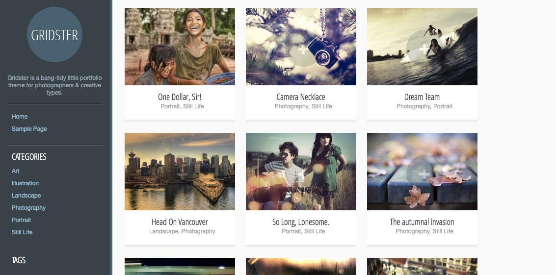Gridster - Free WordPress Themes – Part 2