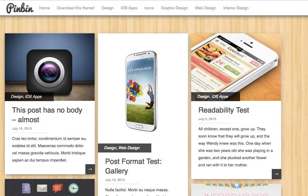 Pinbin - Free WordPress Themes – Part 2