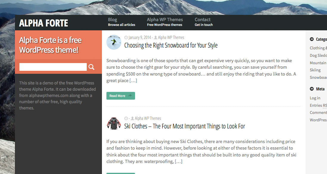 Free WordPress Theme - Alpha Forte