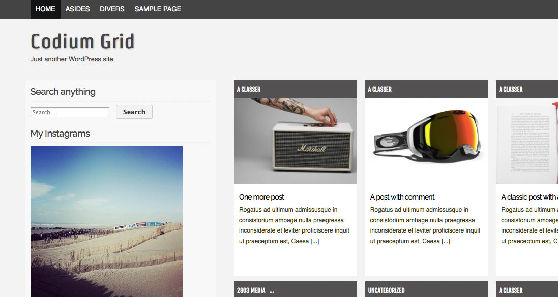 Free WordPress Theme - Codium Grid