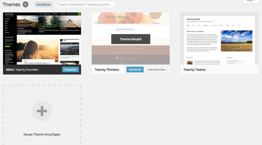 Anleitung - Wie installiert man ein WordPress Theme