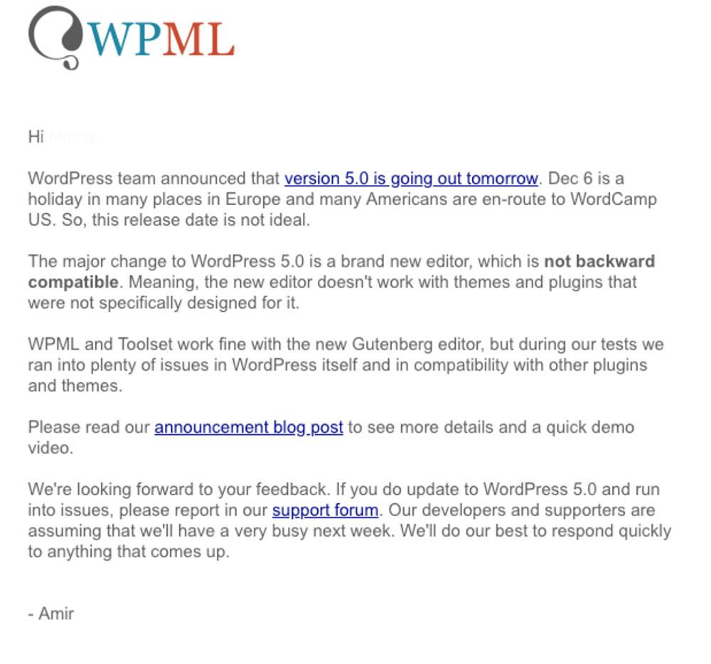 wpml gegen gutenberg - Yoast und WPML sind gegen Gutenberg und haben eine klare Meinung dazu