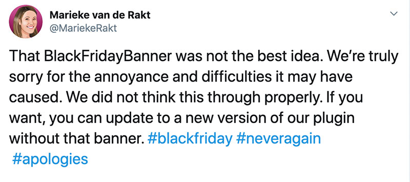 yoast blackfriday 2019 fail ceo statement - Yoast Black Friday Ads Skandal 2019