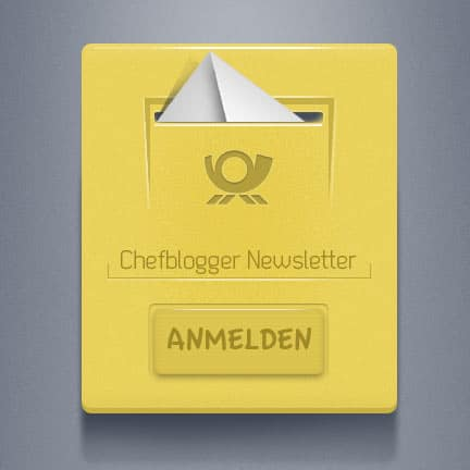 1. Chefblogger Newsletter: Thema Blog absichern