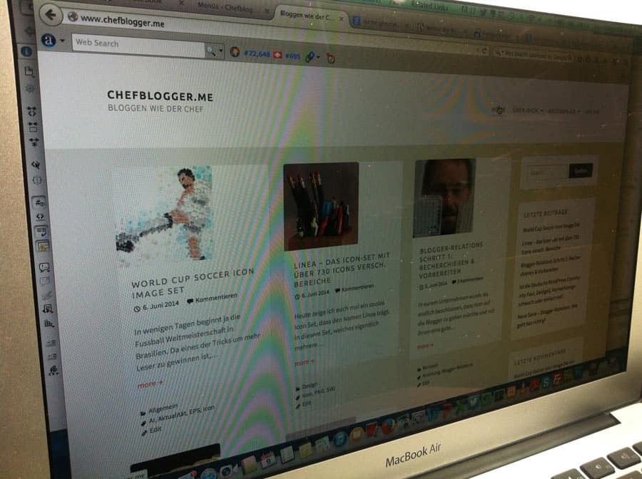 Der Chefblogger hat sich ein neues WordPress Design geschenkt