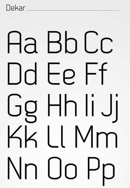 dekar free font - Reckoner - Free Font