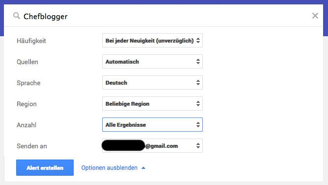 Google Alerts: Wenn die eigene Webseite auf einmal Werbung für Viagra und Cialis macht