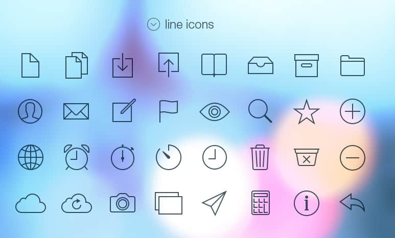 70 iOS 7 inspirierte Tab Bar Icons