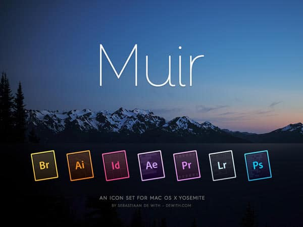 Adobe Yosemite Icon Set