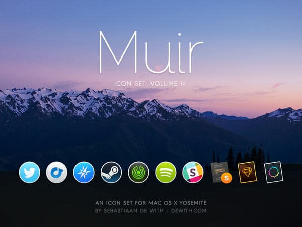 App Icons inspiriert bei Yosemite OS X Design