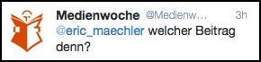 Medienwoche, die Moralwächter und Heuchler - Finger Weg !