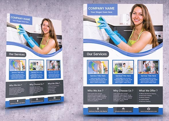 mockup Cleaning Services Flyer Template 01 - 9 hübsche Flyer & Broschüre Templates