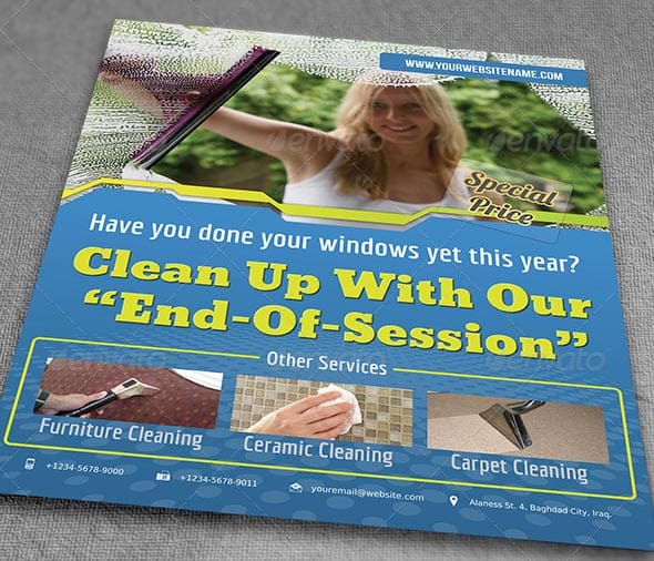 mockup Cleaning Services Flyer - 9 hübsche Flyer & Broschüre Templates