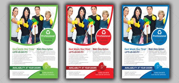 mockup House Cleaning Services Flyer Template - 9 hübsche Flyer & Broschüre Templates
