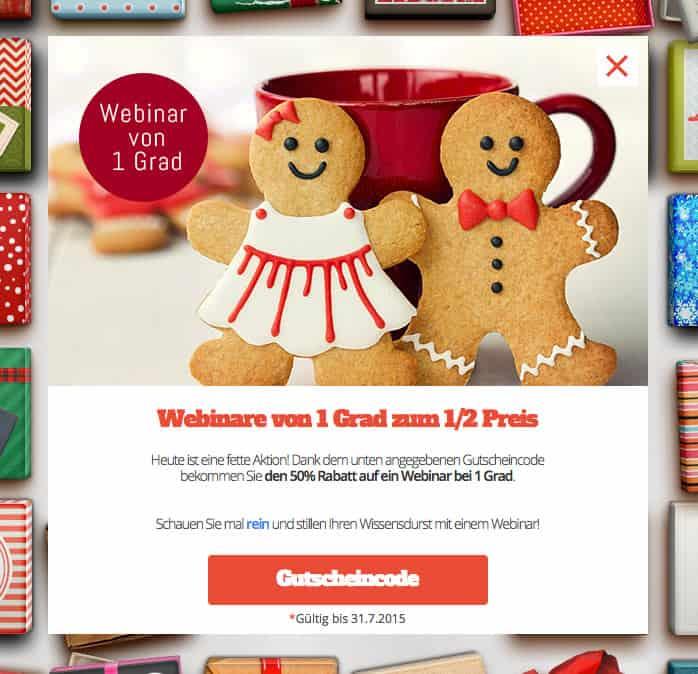 Adventskalender Aktion: Webinare zum 1/2 Preis